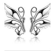 925 Sterling Silver A Butterfly Is Flying Earrings