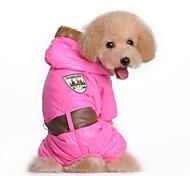Dog Coat Blue / Pink Dog Clothes Winter Letter & Number Cosplay