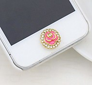 Full Diamond Drip Rose Home Button Sticker for iphone (Assorted Color)