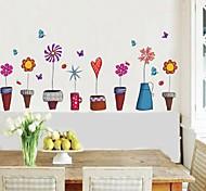 наклейки Наклейки на стены цветочный горшок Стиль Декоративная наклейка