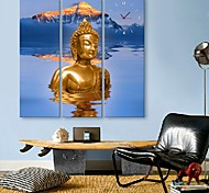 E-HOME® The Buddha Clock in Canvas 3pcs