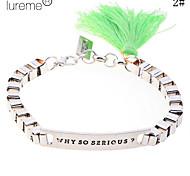 Lureme®Cubic Cotton Tassel  Bracelet(Colors at Random)