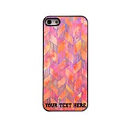 Personalized Phone Case - Pink Waveform Design Metal Case for iPhone 5/5S