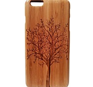 Kyuet Bamboo Case Artist Made Natural Bamboo Laser Engraving Trees Shell Cover Skin Cell Phone Case for iPhone 6