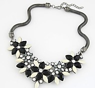 Women's New Colorful Stone Flower Necklace