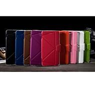 eleganter Normallack PU-Leder Ganzkörper-Kasten für Samsung-Anmerkung 4 (farblich sortiert)