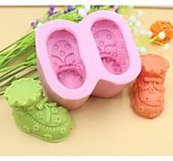 детская обувь формы помады торт шоколадный силиконовые формы торт украшение инструменты, l8.5cm * w7.2cm * h4.5cm