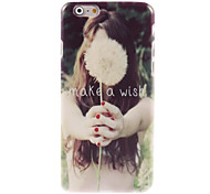 Make a Wish Letter Design Hard Case for iPhone 6