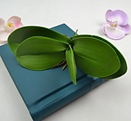 Artificial Green Orchids Leaves 2 Pieces/Lot Stem for Home Decoration