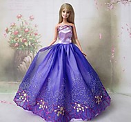 Barbie Doll Purple Princess Dress Orchid in Hollow Vally