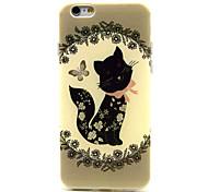 schwarze Schmetterling Muster TPU Soft Cover für iphone 6 Plus