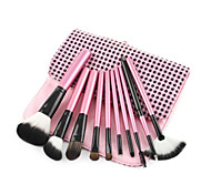 10PCS Pink and Black Makeup Brush Set