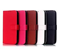motif de litchi de style portefeuille rabat magnétique étui en cuir stand avec fente pour carte pour Motorola MOTO e xt1021 (couleurs