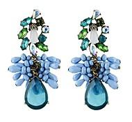 New Trends Beautiful Multicolors Rhinestone Long Earrings