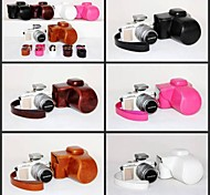 Dengpin PU Leather Camera Case Bag Cover for Olympus PEN E-PL7 EPL7 with 17mm Or 14-42mm Lens