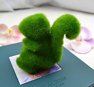 Cute Green Artificial Grass Squirrel for Car and Home Decoration