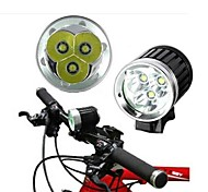 LS129 Bike Bicycle A4 3T6 25W 4000Lm 3x CREE XM-L T6 LED HeadLight Headlamp Kit