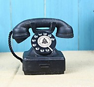Home Ornaments Vintage 1940s Western Electric Black Rotary Handset Desk Phone Model