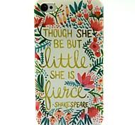 um die Blumen-Muster-TPU weiche Tasche für iPhone 4 / 4S