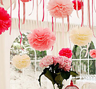 4 inch Tissue Paper Pom Poms Wedding Party Decor Craft Paper Flowers Wedding(Set of 4)