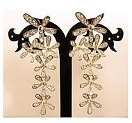 hojas de oro pendientes de diamantes # 73-1