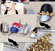 20pcs oro argento 2 colori decorazione di arte punk conico nail