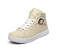 Chao Xi CAX New Type Shoes Women's High Top Flat Shoes Leather Buckle Shoes