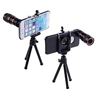Apexel Telescope 8X Zoom Telephoto Manual Focus Lens with Universal Holder / Tripod and Hard Back Case for iPhone 6