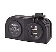 Marine USB Charger Power Adapter+ LED Digital Display Voltmeter Socket