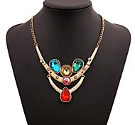 Women's Fashion Cubic Zirconia Rhinestone Jewelry  Alloy Necklace