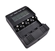 BT-C2000 Intelligent Digital Battery Charger 4-Slot LCD Multifunction for 4 AA/AAA With EU Adapter (Black)