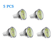 5 pcs GU10 6W 48 610 LM Warm White / Natural White LED Spotlight AC 100-240 V