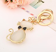 Mode kreativ hochwertigen kleinen schwarzen bowknot opal Metall Schlüsselbund