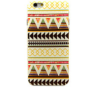 Yellow And White Tribal Lines Pattern TPU Soft Cover for iPhone 6/6S