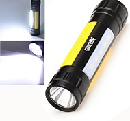 LED Flashlights / Handheld Flashlights LED 3 Mode 500 Lumens Nonslip grip Others 18650 / AAA Warsun , Black Aluminum alloy