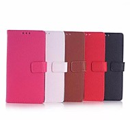 5 Inch High Quality Lichee Pattern Wallet Leather Case for Nokia Lumia 735(Assorted Colors)