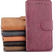 df Luxus-Retro-Schlag-Lederkasten mit Standplatz und Kartensteckplatz für iphone 6 (verschiedene Farben)