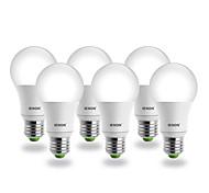 IENON® 6pcs E26/E27 LED Globe Bulbs A60(A19) COB 400-450 lm Warm White AC 100-240 V
