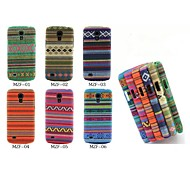 For Samsung Galaxy Case Other Case Back Cover Case Lines / Waves PU Leather Samsung S4 Mini