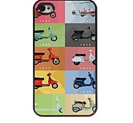Motorcycle Design Aluminum Hard Case for iPhone 4/4S