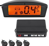 Professional 4 Sensors Car Parking Sensor Auto Reverse Radar Detector System with LCD Display (People Voice)