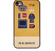 il grande caso duro del modello in alluminio kit lebowski per iPhone 4 / 4S