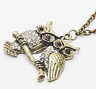 Frauen Eule Halskette vintage