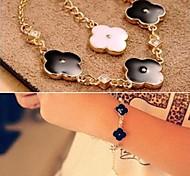 Fashion Shining Black And White Alloy Charm Bracelet(1pc)