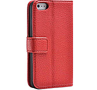 Fashion® Lychee Genuine PU Leather Case with Leather Box for iPhone 5/5S(Assorted Color)