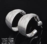 Hoop Ohrringe - aus Silber - für Damen