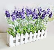 Cloths Dark Purple Lavender With 30cm White Fence