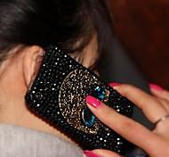 Dame der Schädel Stil mit Diamantrahmen für iPhone 4 / 4S