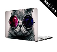 "Cat with Cosmos Glasses Design Full-Body Protective Plastic Case for 13""/15"" MacBook-Pro with Retina Display"
