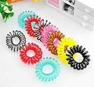 1Pc Fashional and Contracted Hair Ring  (Random Color)